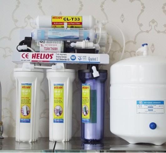Máy lọc nước tinh khiết Helios 8 lõi có thùng